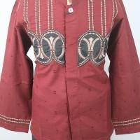 Jual Baju koko Anak Warna Merah Nyaman Dipakai Tidak Luntur