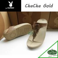 Sendal TERBARU sandal wanita fitflop chacha mrek playboy with box dan