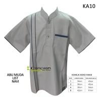 Baju koko anak / Abu muda list navi / size 4