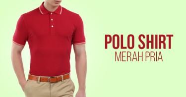 Polo Shirt Merah Pria