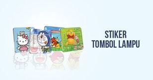 Stiker Tombol Lampu