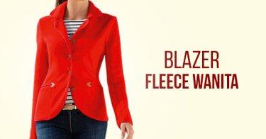 Blazer Fleece Wanita
