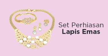 Set Perhiasan Lapis Emas
