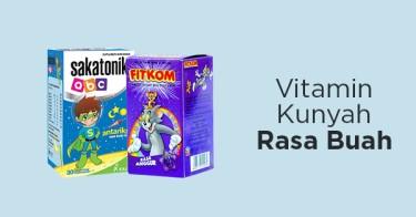 Vitamin Kunyah Rasa Buah