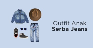 Outfit Anak Serba Jeans