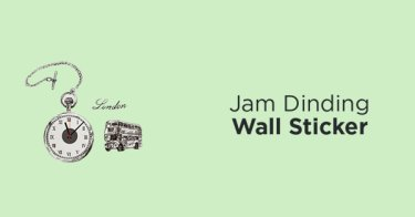 Jam Dinding Wall Sticker