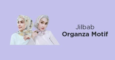 Jilbab Organza Motif