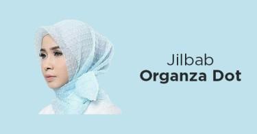 Jilbab Organza Dot
