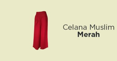 Celana Muslim Merah