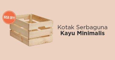 Kotak Serbaguna Kayu Pinus