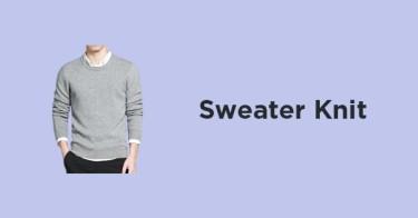 Sweater Rajut Polos Pria