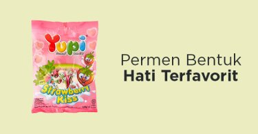 Permen Yupi Strawberry Kiss