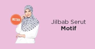 Jilbab Serut Motif