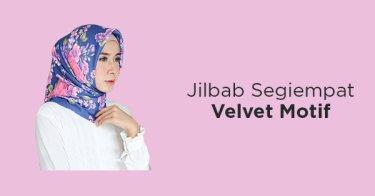 Jilbab Segiempat Velvet Motif