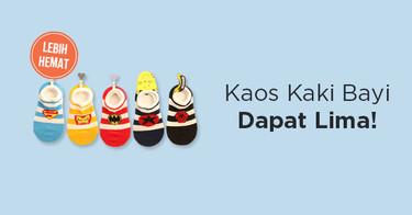 Kaos Kaki Bayi 5-in-1