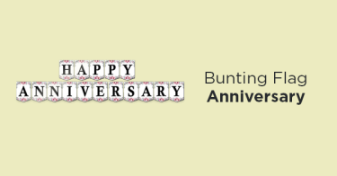 Bunting Flag Anniversary