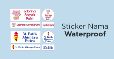Stiker Nama Waterproof