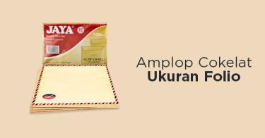 Amplop Cokelat Folio