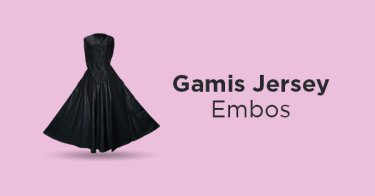 Gamis Jersey Embos