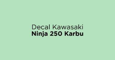 Decal Kawasaki Ninja 250 Karbu