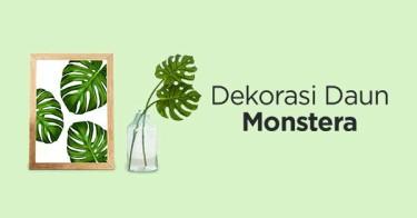 Dekorasi Daun Monstera