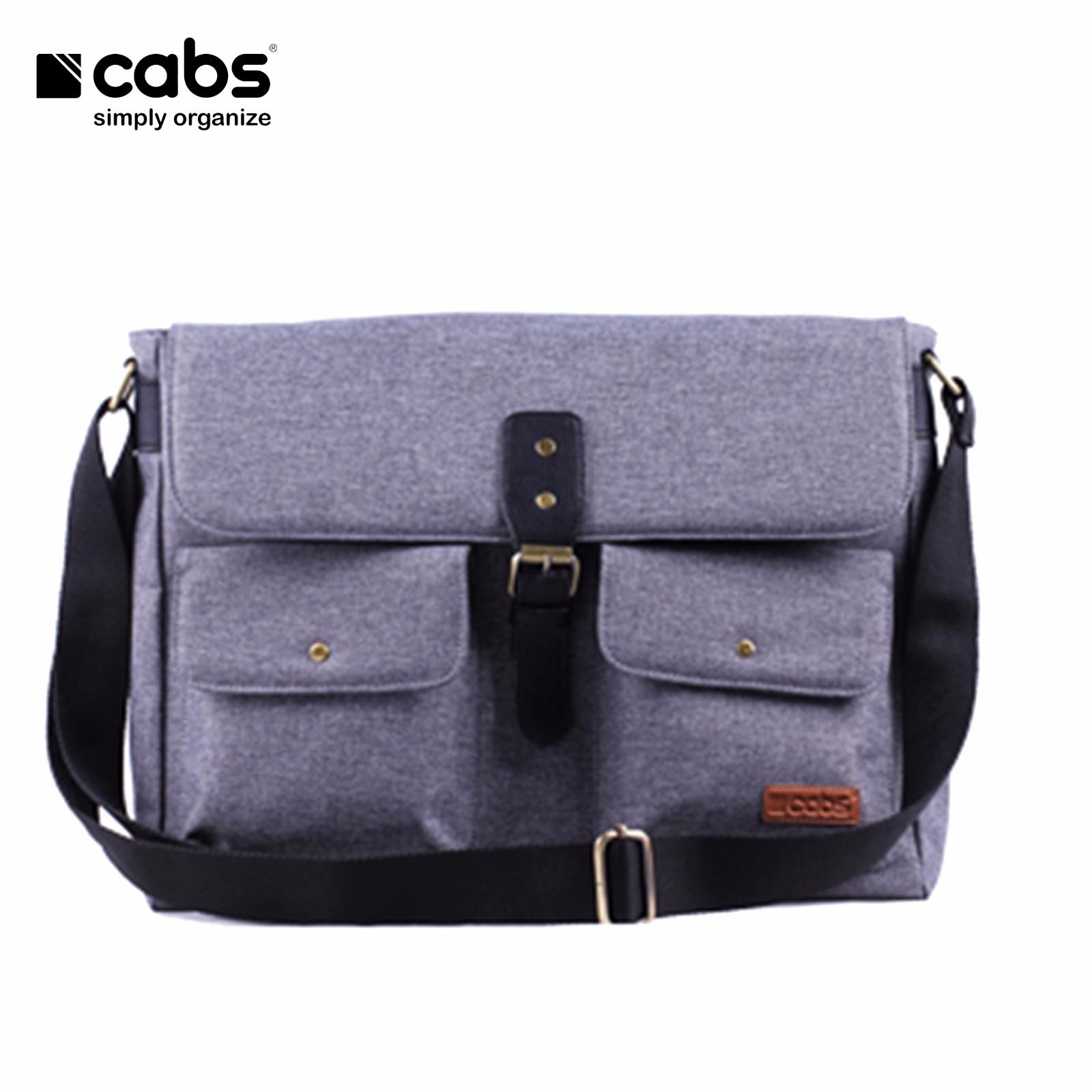 Jual Cabs Pocket Nichole Tas Pria Selempang Kerja Laptop Kamera Wanita Premium Notebook Fashion Cowok Sling Bag Grey