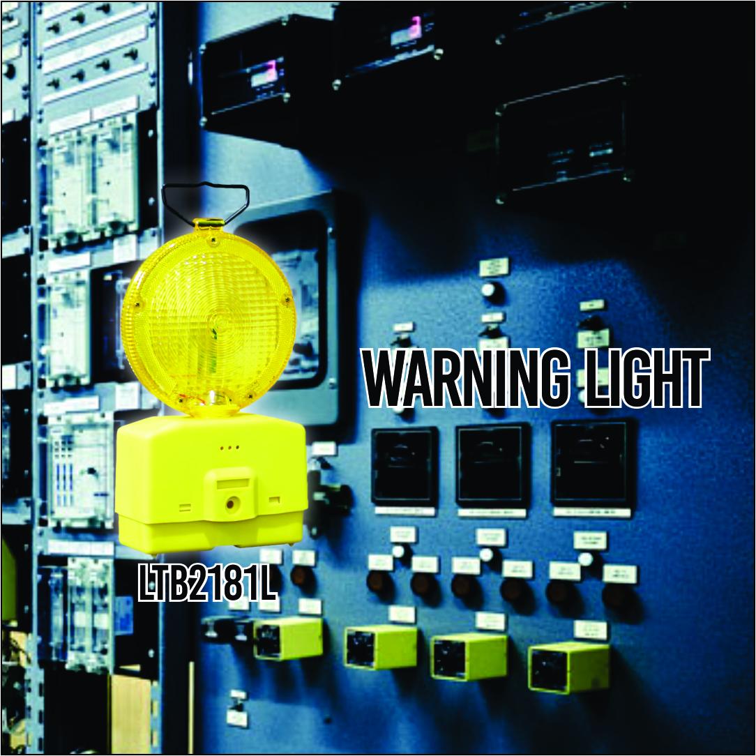 Lampu Tongkang Lampu Rotary Lampu Jalan Amber + Baterai