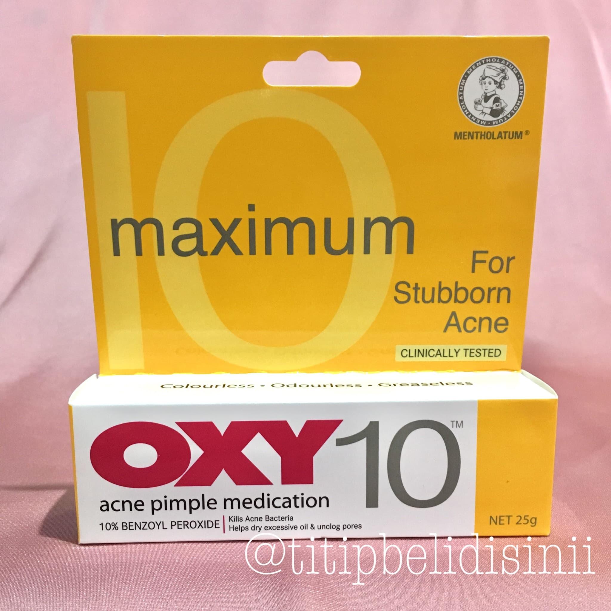 Oxy 10 - Acne Pimple Medication - For Stuborn - Obat Jerawat 25gr